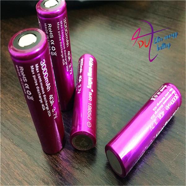 2 unids batería de litro de energía batería de cigarrillo electrónico 18650 3000 mah 40a Li-Mn batería y estuche para vtwo RX2 / 3 RX200s