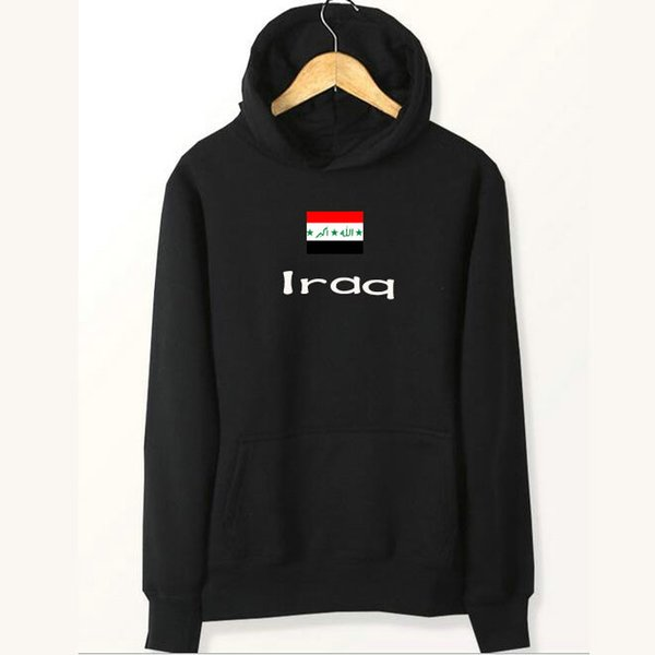 Iraq flag hoodies Nation skate player sweat shirts Country fleece clothing Pullover sweatshirts Outdoor sport coat Brushed jackets