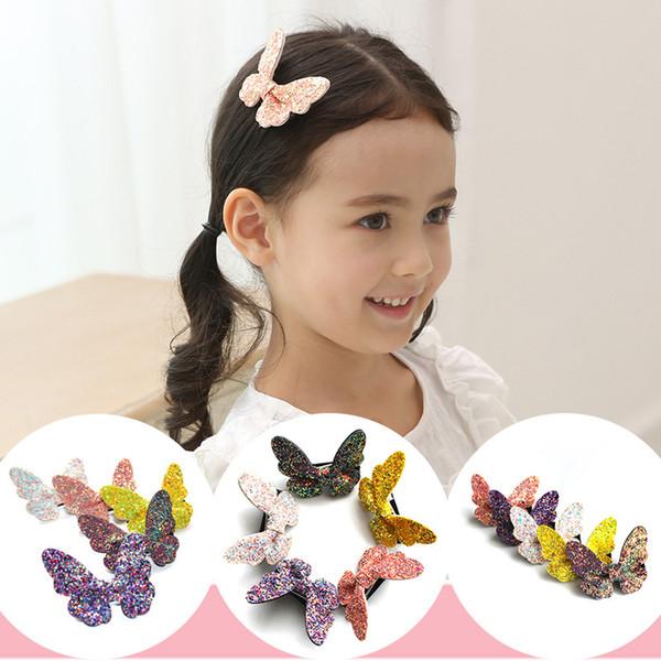 12 Pcs Girls Cute Colorful Sequin Butterfly Hair Clips Princess Barrette Hairpin Kids Hair Accessories Beautiful HuiLin B93