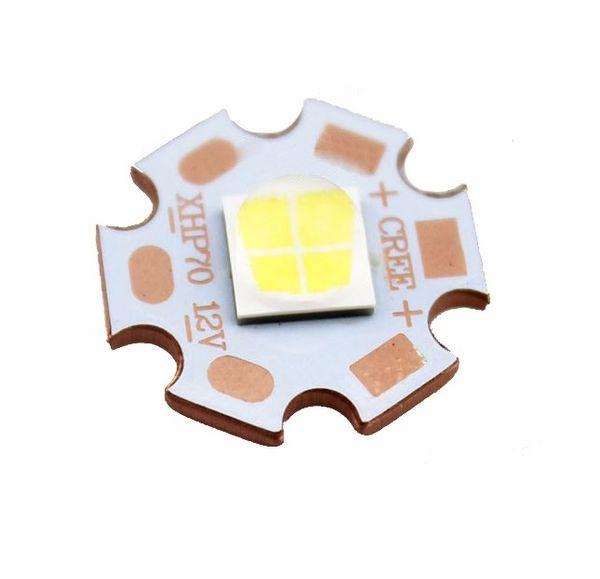 CREE XHP50 6500K Cool White LED Emitter LED Beads lamp light 6V 12V with 20mm Cooper Base PCB for flashlight DIY