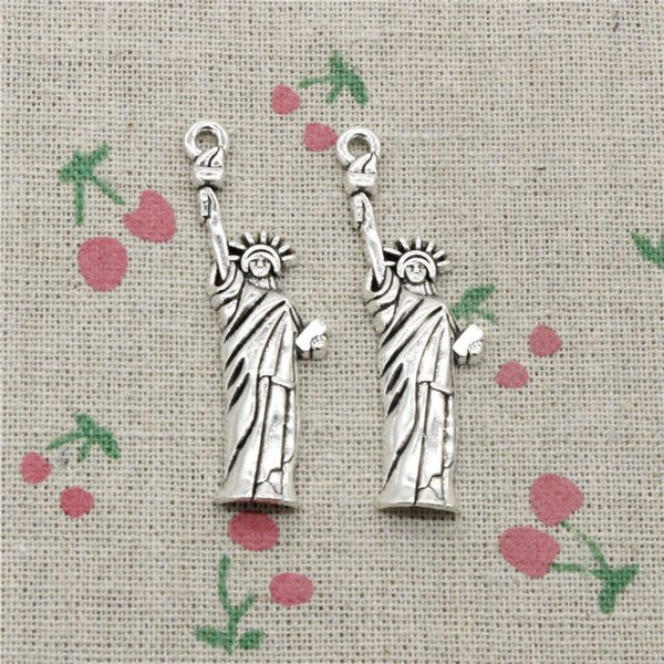 45pcs Charms statue of liberty new york 49*14mm Antique Silver/Bronze Pendant Zinc Alloy Jewelry DIY Hand Made Bracelet Necklace Fitting