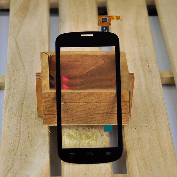 Al por mayor- negro pantalla táctil digitalizador Panel de vidrio pieza de repuesto para el teléfono ZTE V818