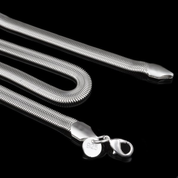 925 Sterling Silver Snake Chain Necklace for Men Lobster Clasps Smooth Chain Fashion Jewelry Size 1mm 16 18 20 22 24 Inch