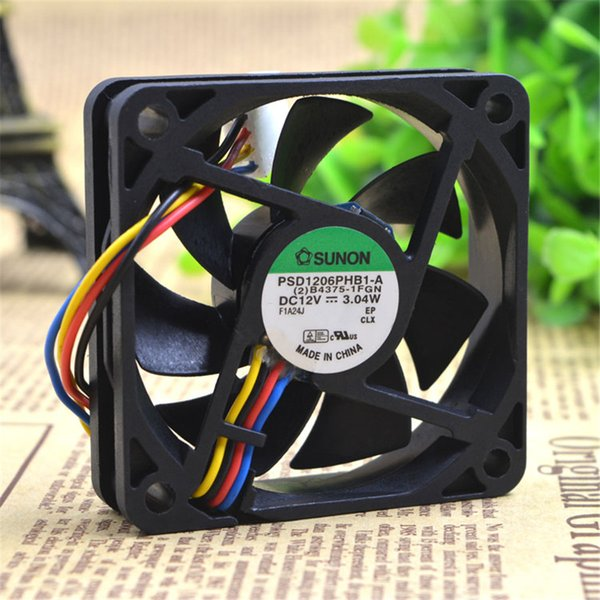 Wholesale- SUNON 6015 60MM PSD1206PHB1-A DC12V 3.04W 60*60*15MM Cooling fan For Server Computer case With 4pin
