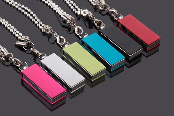 DHL Free shipping mini metal Pen drive USB 2.0 u disk usb flash driver 8gb pendriver 16gb Mini tiny usb flash drive memory disk