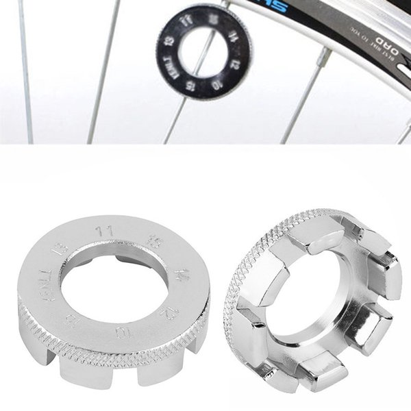 Wholesale- 2017 new high quilty 1pc Cycling Bicycle Bike 8 Way Spoke Nipple Key Wheel Rim Spanner Wrench Repair Tool free shipping