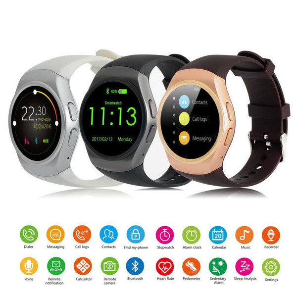 KW18 Smart Watch phone Support SIM TF Card Heart Rate Monitor MTK2502 Smartwatch for apple gear s2 Android IOS Phone