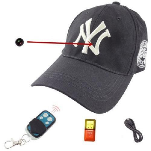 Full HD 1080P Cap camera 32GB NY Baseball cap DVR Remote control hat Camera Video recorder Security mini DV hat DVR 12pcs