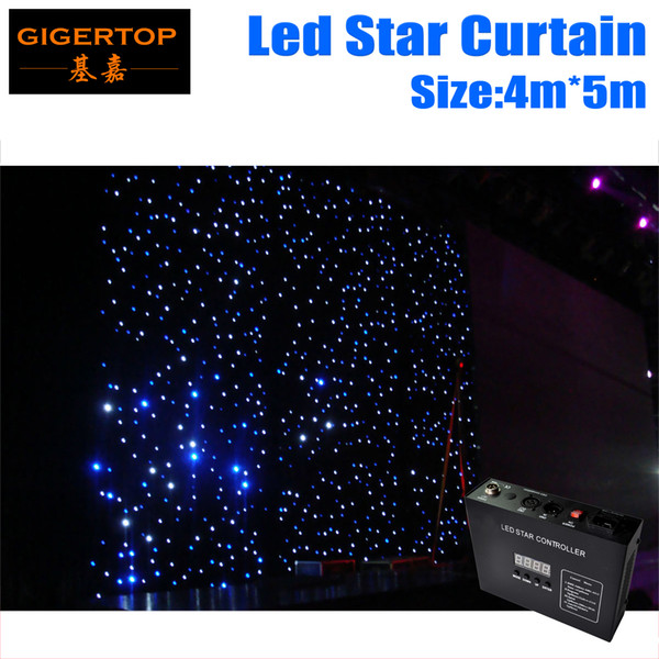 4M * 5M LED Estrella Cortina RGBW / RGB Color LED Etapa Telón de fondo LED Tela de estrellas para la decoración de la boda 90V-240V con controlador DMX