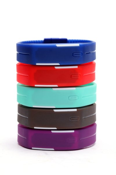 10PCS/lot Free shipping waterproof The keys Touch square dial Digital Watch Silicone Bracelet Y022702