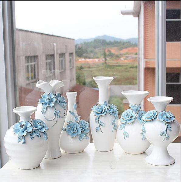 Großhandel Moderne Glück Form Mit Holzrahmen Keramik Vase Für Home