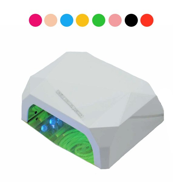 Wholesale- Lamp For Nails LED Dryer Nail Diamond Shape 36W UV Lamp Curing for UV Gel Nail Polish EU US Plug