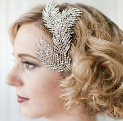 2019 Vintage Feather Bridal Hair Accessories Classic Hair Dresses