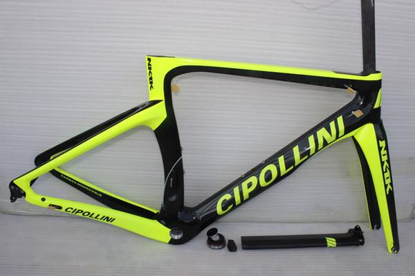 Fluo green 2017 Cipollini NK1K carbon bike frame carbon road frameset 1k or UD carbon fiber bicycle frames with fork, seatpost,headset