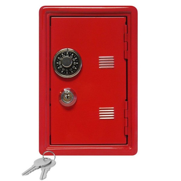 New Arrival Mini Metal Code Case Safe Box Money Bank Saving Box With Key Kids Children Best Gift