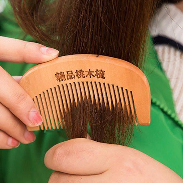 2017 pelo de bolsillo peine hecho a mano de madera de sándalo antiestática para pelo barba y bigote de madera peines cepillo de pelo