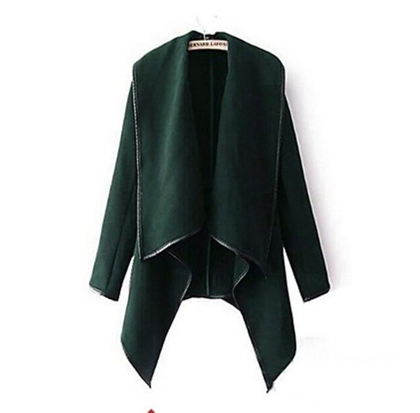 top popular 2019 Fall Winter Clothes for Women New European and American Wool & Blends Coats Ladies Trim Personality Asymmetric Rules Short Jacket Coats 2020