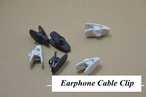 big Headphone Headset Earphones Cell Phone Cable Cord Wire Clip Nip Clamp Holder black white 2 color