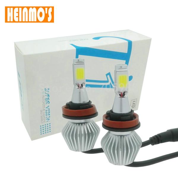 best selling 2pcs 60W 24V 12V COB Led Beam Replacement LED conversion kit DRL Fog Headlight Conversion kit Bulb H1 H3 H4 H7 H8 H11 9006