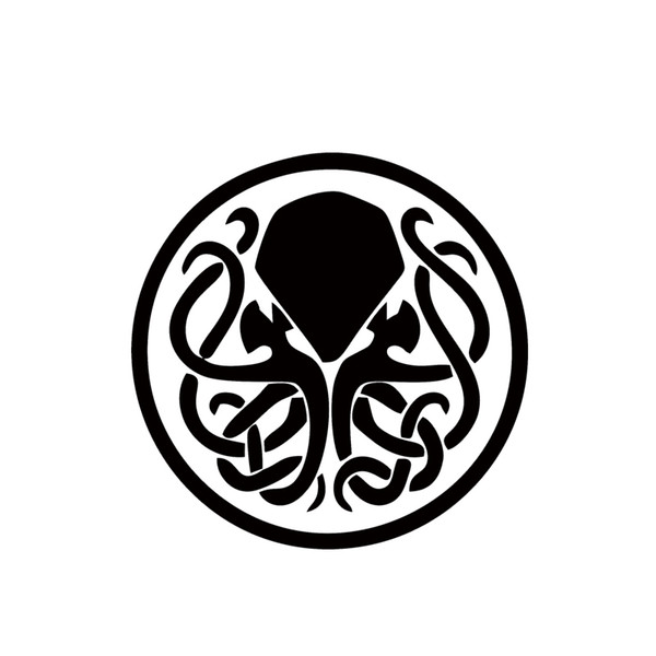 Voiture Stying Cthulhu Avec Tentacle Knots Lovecraft Vinyle Autocollant Decal Stickers Créatifs JDM