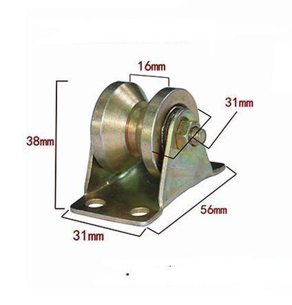 Vente en gros- Acier V Type roue rail poulie roulement porte coulissante porte rouleau de chargement poids 200 kg diamètre de la roue 31mm