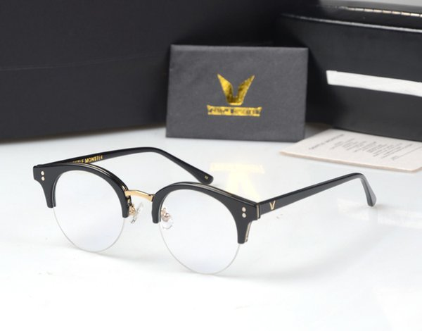 Wholesale- Gentle Pavana Metal Half Frame Glasses Frame Retro Woman Men Reading Glass UV Protection Clear Lens Computer Eyewear Eyeglass
