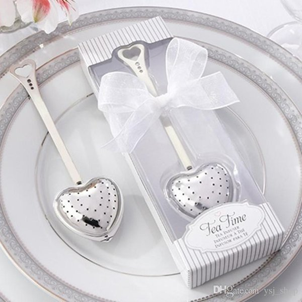 """Free Shipping! """"Tea Time"""" Heart Tea Infuser in Elegant White Gift Box Nice Souvenirs Ceremony Gifts Supplies"""