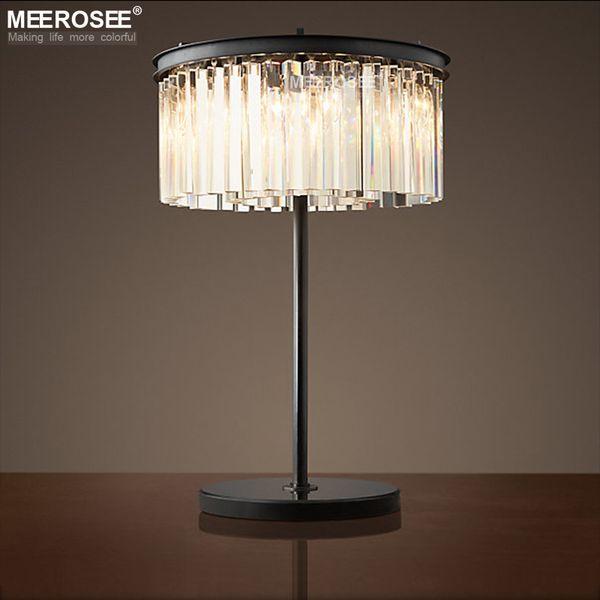 Kristall Tischlampe Vintage Gute Qualität Schreibtisch Leuchte Für Dekoration Hotel Einkaufszentrum Schlafzimmer Tischlampe Lamparas