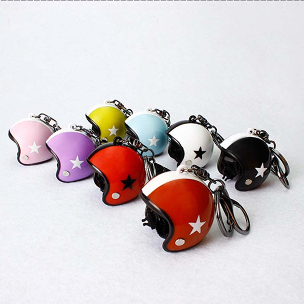 Racing Motorcycle Helmet keyring keychain accessories Collection Sports Promotion Gift Carabiner designer keychain new designer jewelry