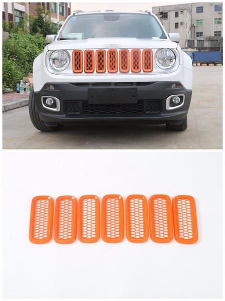 7шт ABS передняя решетка радиатора вставляет сетчатые аксессуары для Jeep Renegade 2015-2016