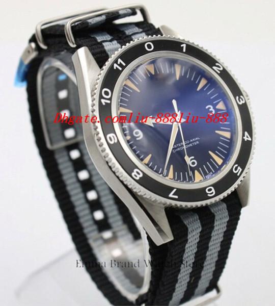 Relojes de lujo Reloj Maestro Reloj OO7Movie SPECTER LIMITED Hombres Automático de cristal Volver Reloj de pulsera mecánico Banda de tela Si14 Regalo