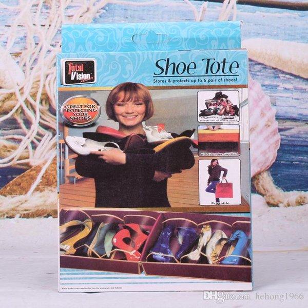 Schuhkarton DIY Falten Stiefel Lagerung Tragbare Vlies Zähigkeit Schuhkarton Container Spezielle Tourismus Finishing Home Tool 4 5sf KK