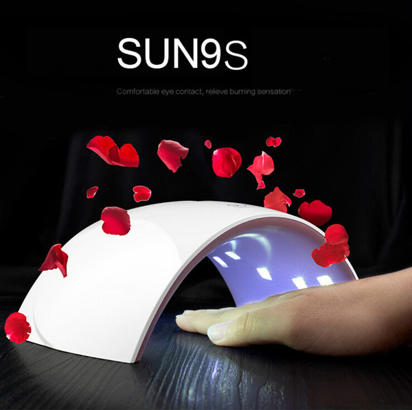 SUN9s / SUN9c 24W USB LED Lámpara Secador de uñas UV Lámpara de uñas 15 PCS Lámpara de doble luz para uñas UV Gel Polish Nail Art