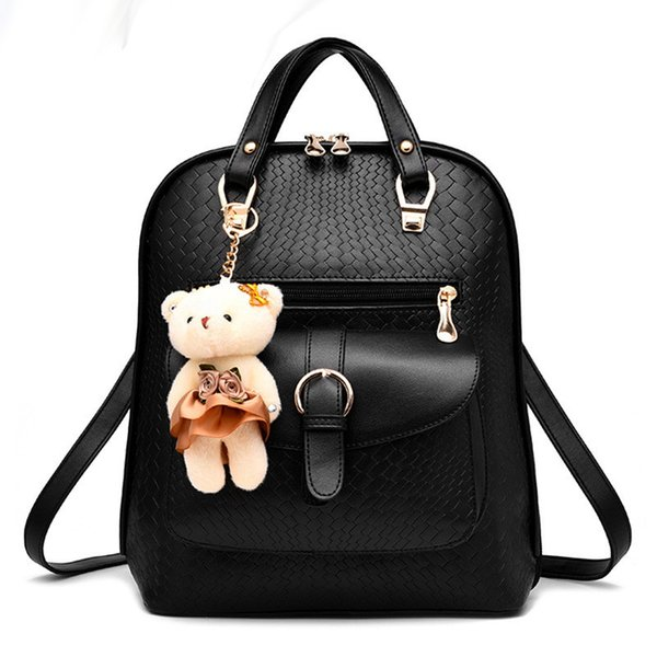 2017 Wholesale Leather Backpack Women School Bags For Teenagers ...