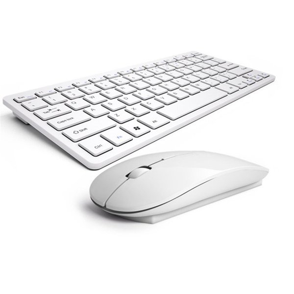 Fashionable Design 2.4G Ultra-Slim Wireless Keyboard and Mouse Combo New Computer Accessories For Apple Mac PC Windows XP Android Tv Box
