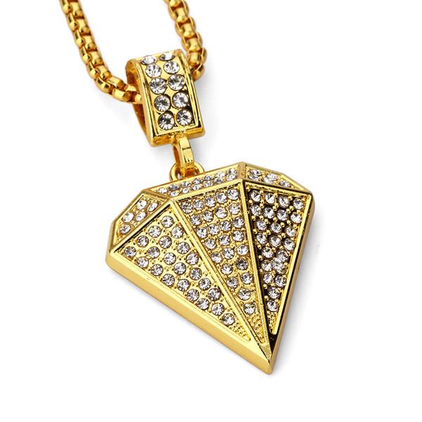 Мода персонализированные дизайн мужчины хип-хоп кулон ожерелья костюм ювелирные изделия горный хрусталь 18k золото заполненные длинная цепь заполнение штук мужские