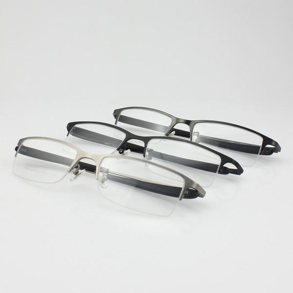 Vente en gros titane à moitié optique sans monture optique lunettes lunettes de prescription pour hommes lunettes 8906