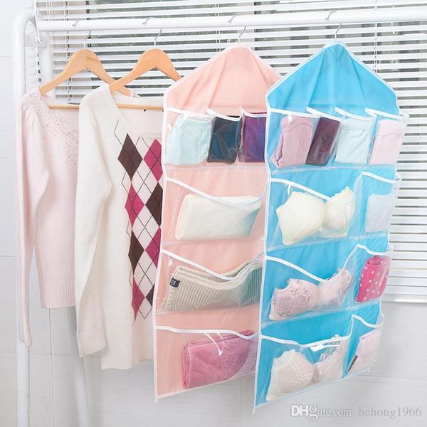 Hanging Bag Toy Socks Bra Underpant Clothes Closet Shoes Foldable Storage Bag Wear Durable Wardrobe Hanger Practical 3 8bx J1 R