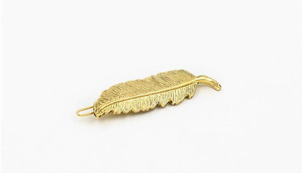 Free shipping Fashion Gold Plating Leaf Hair Clip Bobby Pin Girls hair accessory wholesale