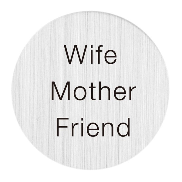 22mm Brushed Stainless Steel Large Floating Living Memory Charm Locket Necklace Message Backplate Jewelry - Wife Mother Friend