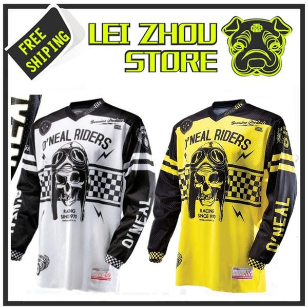 2017 manga comprida de equitação engrenagem ATV bicicleta de corrida de bicicleta Jersey Venda Jerseys O'neal Motocross Ultra Lite Le '70