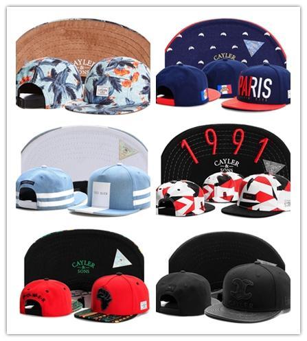 2017 El Más Nuevo Cayler Sons Snapback Caps Hombres Mujeres Marca Pelotas de Bola Descuento Moda Unisex Snapbacks Sombreros Venta caliente en línea