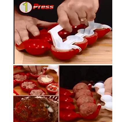 Newbie Polpette di carne farcite Macchine per la lavorazione della palla Macchine da cucina Gadget Materiale ABS Vendita calda di alta qualità 5 5tf R