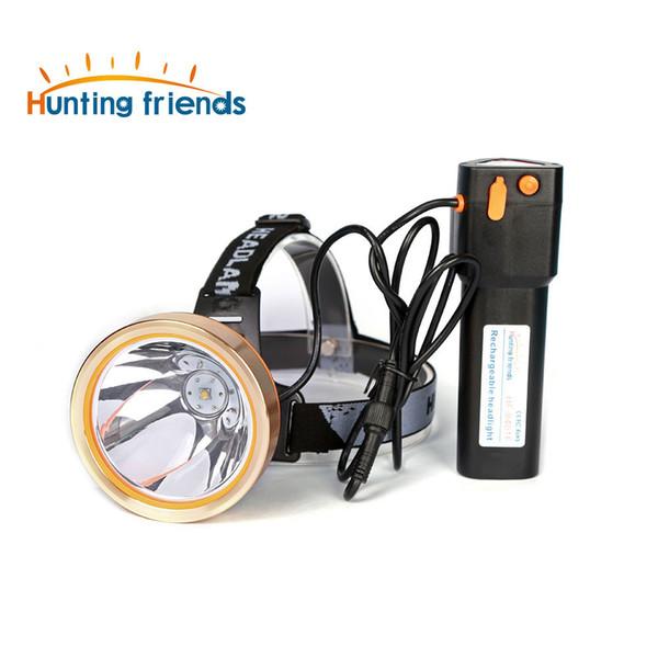 Los amigos de la caza de alta potencia LED faro recargable faro impermeable linterna cabeza linterna para la caza pesca camping