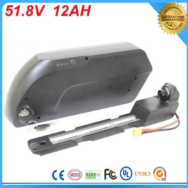 52 v 1000 w TigerShark bateria de íon de lítio 51.8 V 12Ah bicicleta Elétrica bateria com 5 v USB fit para 1000 W Bafang kit de motor Para Célula Panasonic