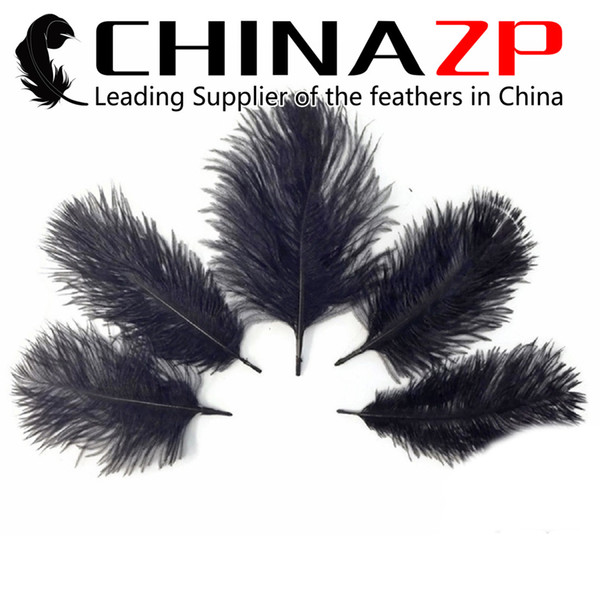 Leading Supplier CHINAZP Crafts Factory 15~20cm(6~8inch) Length Gergeous and Graceful Dyed Black DIY Ostrich Plume Feathers