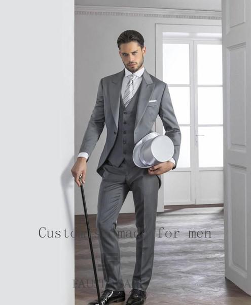 Popular Großhandel Großhandels Gray David Beckham Bräutigam Anzug Nach Maß  KT05