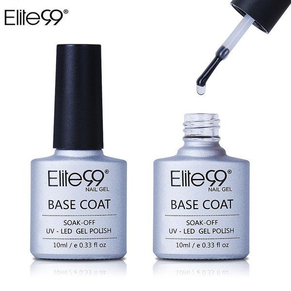 Wholesale- Elite99 Base Coating For UV Gel Polish Base Coat Nail Primer Gel For Nail Art Decal Nail Art Paint Cured with UV LED Lamp 10ml