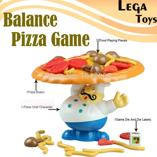 Wholesale-Pile-Up Game Incline Interactive Balance Board Game Pizza Kids Children Great educational novelty Family Fun toys for children