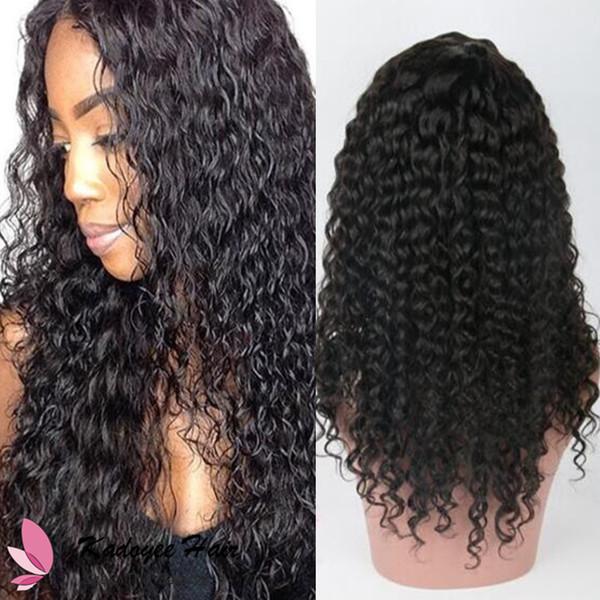 Brazilian 8A Virgin Human Hair Wigs Kinky Curly Lace Frontal Human Hair Wig Peruvian Indian Jerry Curl Glueless Lace Wig Free Shipping